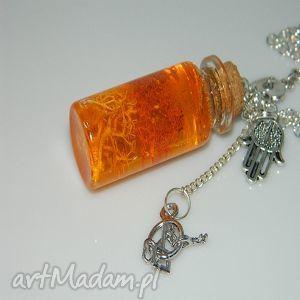 pomarańczowa żywica, wisior, pomarańczowy, prezent, kobieta, jedyny