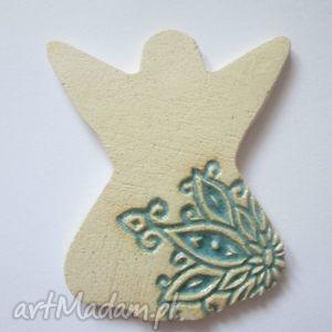 handmade upominek na święta aniołek magnes2