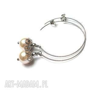alloys collection /pętelki pearl/creme brulee/, stal, szlachetna, koła, perły