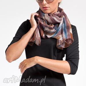 silk scarf - jedwab, szyfon, pasy