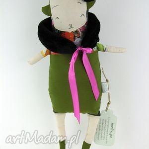 hortensja lalka / przytulanka hand made, zielony, prezent, eco, urodziny, roczek