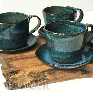 ceramika ręcznie lepiony kubek ceramiczny - duża filiżanka ok 350 ml 2 szt