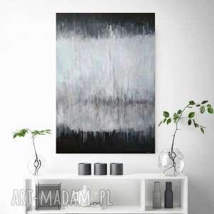 Abstrakcja w szarościach -obraz akrylowy formatu 50 70 cm