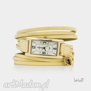zegarek na skórzanej bransolecie dmuchawiec, wiosna, pole, pola, mlecz, kwiat