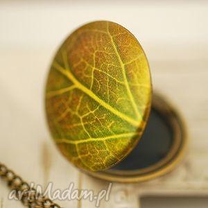 madamlili ♥ liść ♥ medalion z brązu - jesień