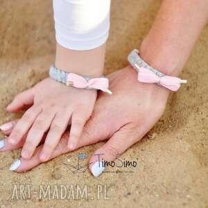 Zestaw bransoletek mama-córka (szary), dla-mamy-i-córki, mama-córka, bransoletki,