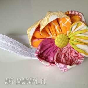 hand-made dla dziecka opaska niemowlęca - kwiat wzór