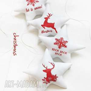 upominek na święta Christmas - gwiazdki do zawieszenia , święta, gwiazdka, choinka