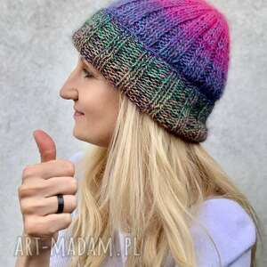Lekka wełniana czapka czapki the wool art czapka, kolorowa