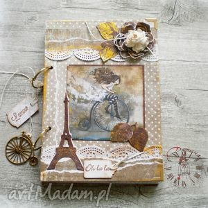 stylowy paryski notatnik /pamiętnik vintage / ok 400 str na sekretne zapiski, paryż