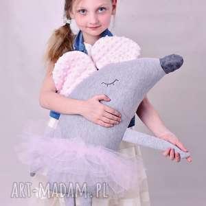 Prezent Przytulanka dziecięca myszka baletnica, mysz-poduszka, myszka-baletnica