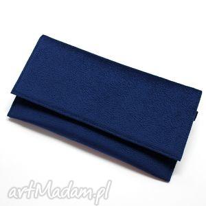 kopertówka - ciemny niebieski, elegancka, nowoczesna, wizytowa, handmade, wieczorowa