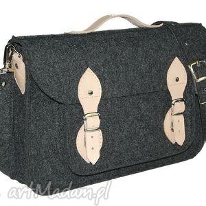 handmade filcowa torba na laptop 15 - personalizowana-grawerowana dedykacja
