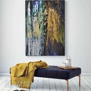 - opal stone abstrakcja ręcznie malowana na płótnie 100x70 cm, obraz