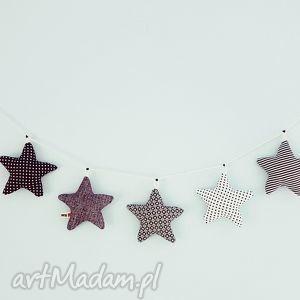 girlanda gwiazdkowa black white - girlanda, gwiazdki, stars, black, white