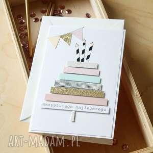 Wszystkiego najlepszego, urodzinowa, kartka, urodziny, urodzinki, kartki, pastelowe
