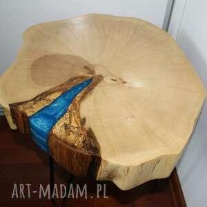 hand-made stoły stolik kawowy plaster graba żywica