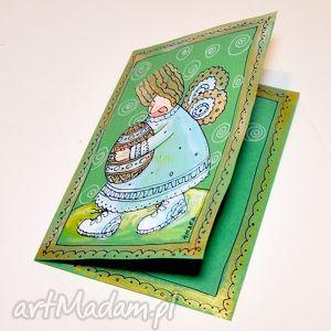 handmade scrapbooking kartki aniłek z pisanką