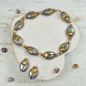 komplet biżuterii - skarabeusz, oryginalna-biżuteria, biżuteria-egipska