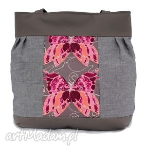 pod choinkę prezenty, na ramię z motylami, torba, torebka, ramię, eko skóra