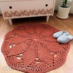 dywan wykonany rĘcznie na szydeŁku 100 cm, dywan, dywanik, chodnik, chodniczek