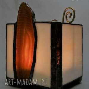 lampion z ciętymi agatami świecznik nastrojowy uroczy klimat gwarantowanyprezent