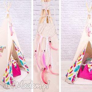 handmade pokoik dziecka tipi namiot do pokoju lub ogrodu - piórka