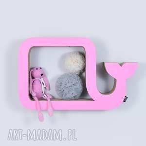 handmade pokoik dziecka półka na książki zabawki wieloryb ecoono | różowy