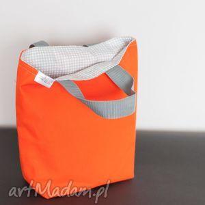 Pomarańczowy szara kratka bywkml kratka, lunch, kanapki, pudełka