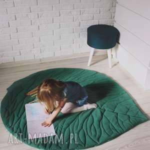 Mata do zabawy - liść zielony pokoik dziecka musslico mata