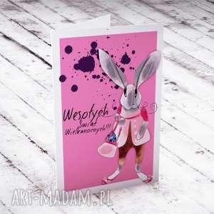 parallel world wielkanocna karteczka z panią zającową, wielkanocne, życzenia