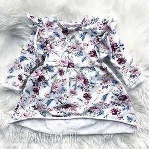 sukienka dresowa dla dziecka kwiaty, dzie