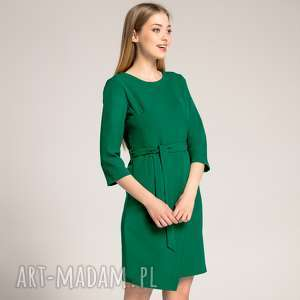 ręczne wykonanie sukienki sukienka kopertowa silena szmaragdowa