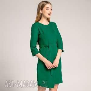 Sukienka Kopertowa Silena Szmaragdowa, kopertowa-sukienka, dopasowana-sukienka