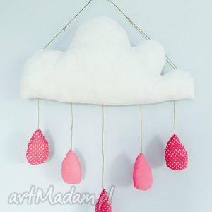 deszczowa chmurka mobil zawieszka - ,chmurka,zawieszka,deszczowa,kropelki,girlanda,mobil,