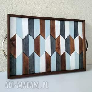 taca drewniana /2/, taca, drewniana, ręcznie, robiona, drewno, pod choinkę