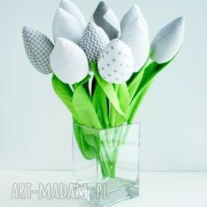 tulipany bukiet 10 sztuk bawełnianych kwiatów, kwiaty, z materiału