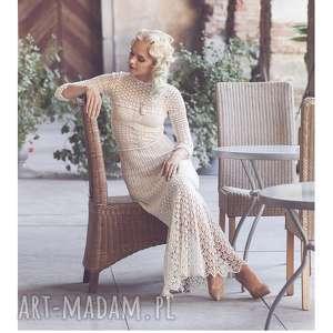 suknia ślubna koronkowa - suknia, szydelkowa, koronkowa