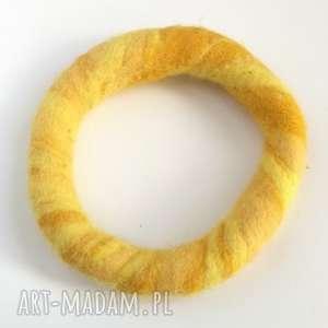 bransoletka ręcznie formowana filcowa jesienna handmade, bransoletka, etno, boho