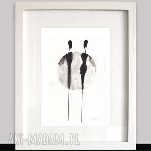 obrazy-grafika do ramki 21x30 A4 rysunek tuszem About real relationship/53/