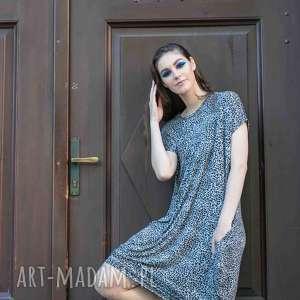 4ed11da86 ... sukienka codzienne wyjście panterka, sukienka, t shirt, narzutka,  spodnie, dres