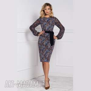 sukienka lidia midi andrea, na jesień, dopasowana sukienka