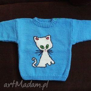 ręcznie wykonane sweterek kotek