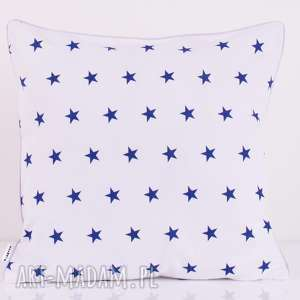 poduszka little stars navy blue 50x50cm, skandynawski, stockholm, 50x50