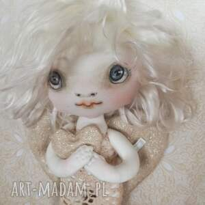 Dekoracja tekstylna aniołek - Julia opiekunka miłości, anioł, serce, nowożeńcy