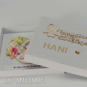handmade scrapbooking kartki kartka w pudełku pamiątka chrztu