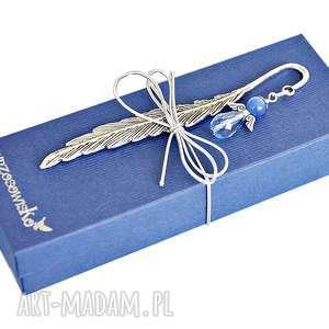 zakładki anioł błękitny blask - zakładka w pudełku, zakładka, anioł, prezent