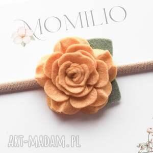 opaska do włosów z kwiatuszkiem camelia, kwiatek, włosówkwiatek