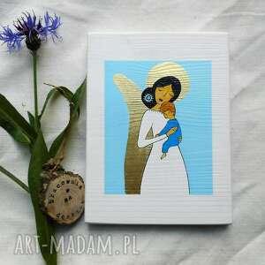 obrazek na chrzest święty - chłopiec, anio stróż, anioł dla chłopca
