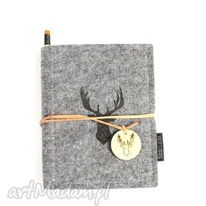 unikalny prezent, notes filcowy deer, notes, notatnik, filc, organizer, pamiętnik